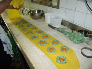 San Domenico's signature pasta in progress