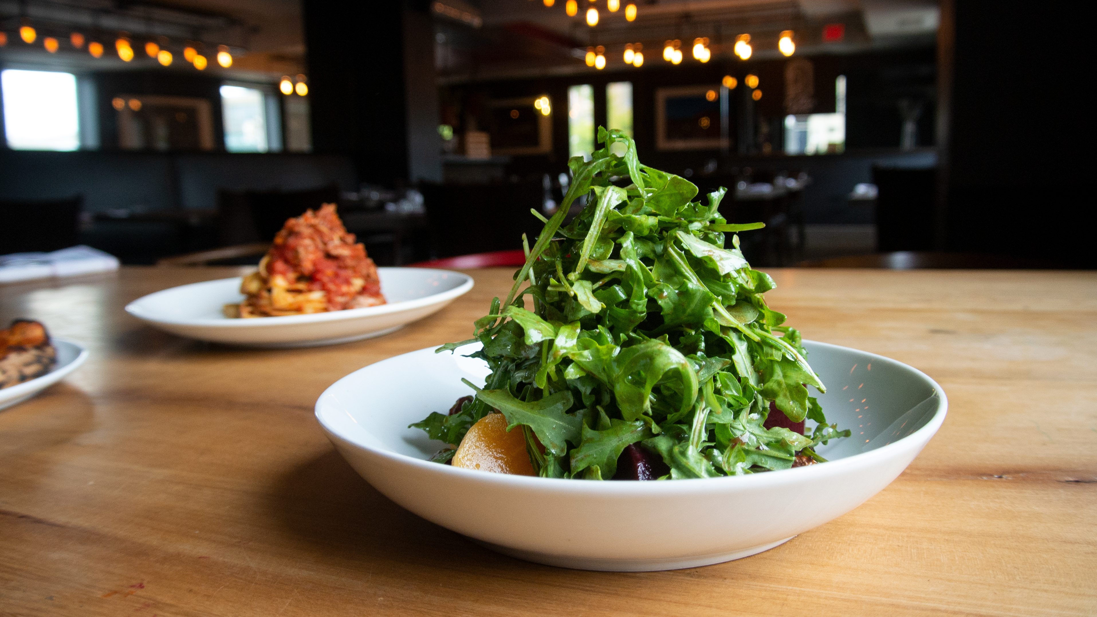 The beet and arugula salad.